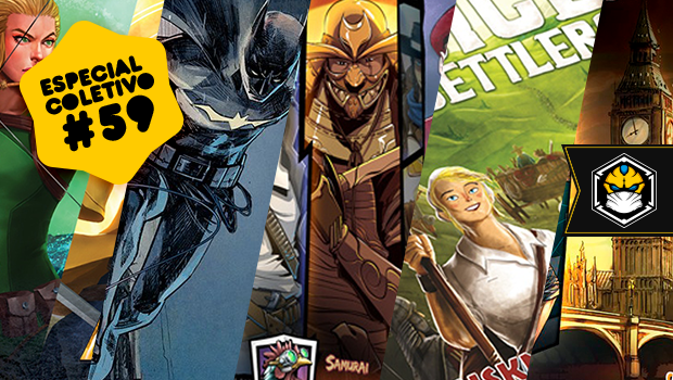 Especial Coletivo 59: Chronicles of Crime, Batman: Gotham City Chronicles, Dice Settlers e muito mais