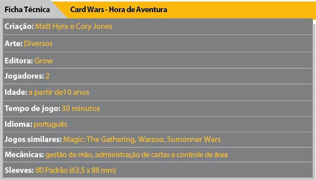 Ficha Tecnica Card Wars