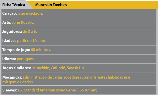 Ficha Tecnica Munchkin Zombies