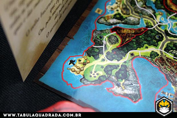Local do tesouro no A Ilha Perdida