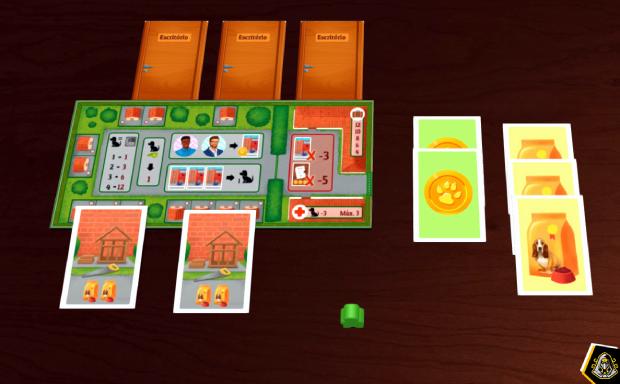 Tabuleiro de jogador em Dogs Card Game