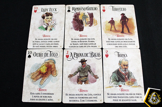 Cartas de bônus Western Legends