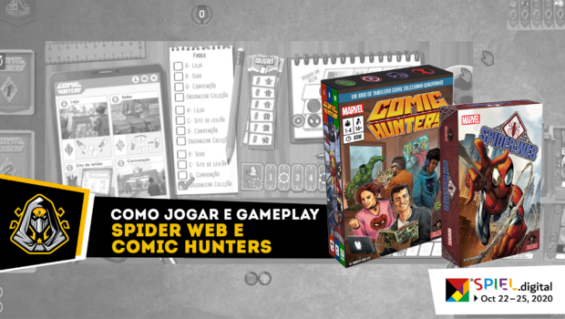 Gameplay Spider Web e Comic Hunters