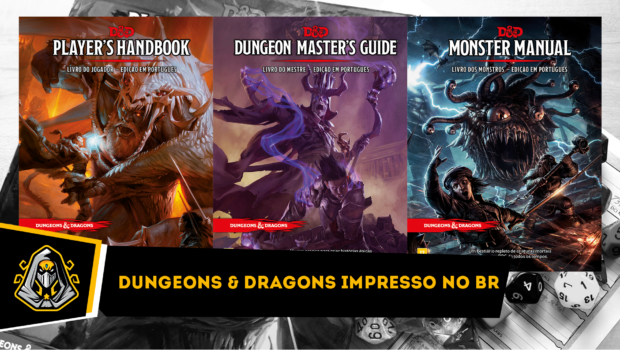 Capa post Dungeons & Dragons impresso no Brasil